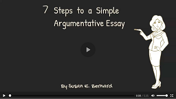Video: 7 Steps to Write a Simple Argumentative Essay