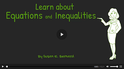Video: Learn About Equations and Inequalities