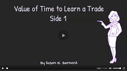 Video: Value of Time to Learn a Trade - Side 1